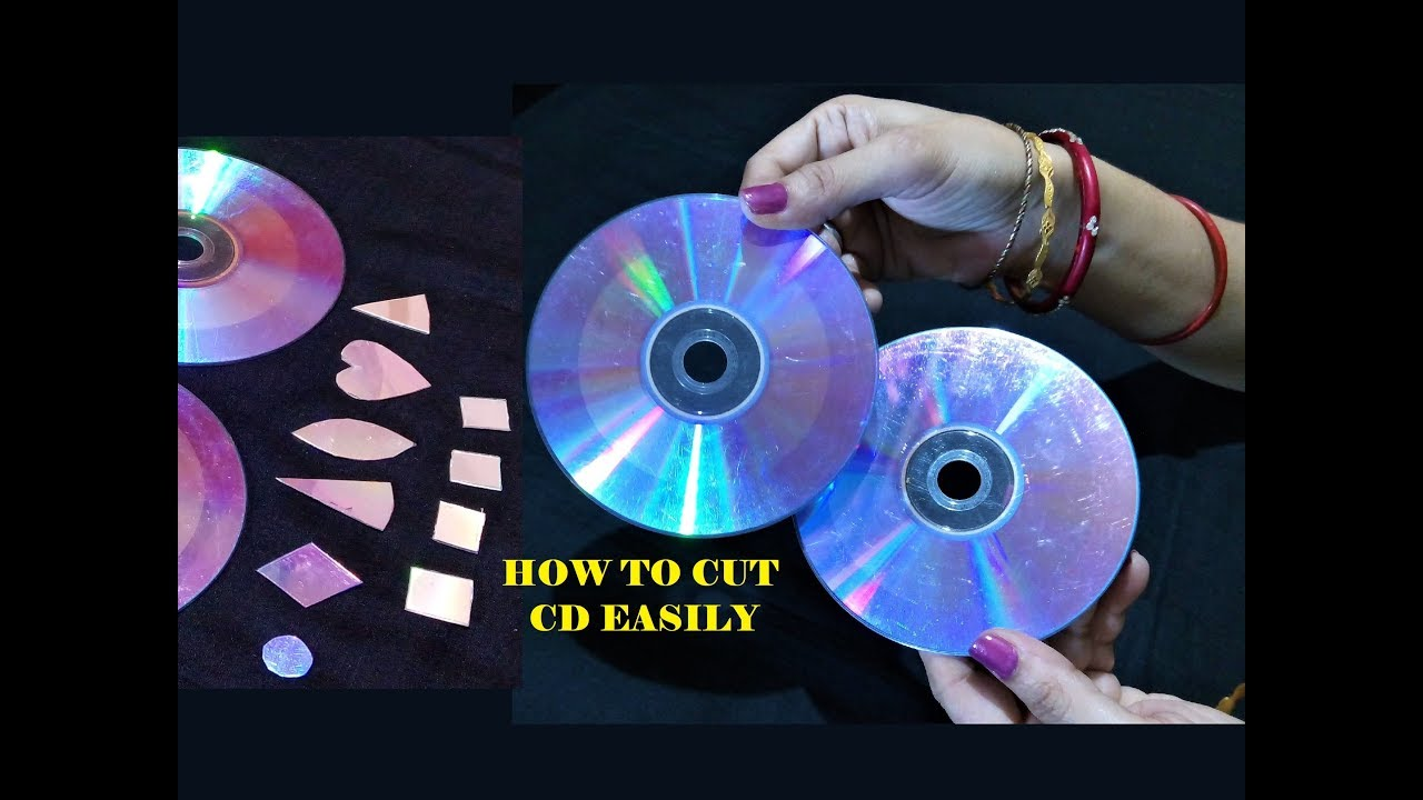 How To Cut CD DVD Easily For Craft
