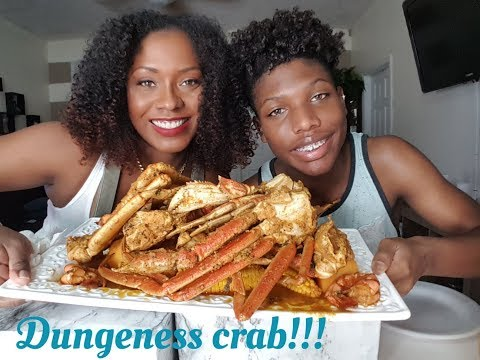DUNGENESS CRAB, SNOW CRAB AND TIGER SHRIMP SEAFOOD BOIL|MUKB