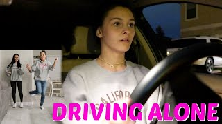 DRIVE WITH ME BY MYSELF! TIKTOK CHALLENGES! EMMA AND ELLIE