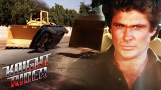 KITT Escapes Tractor Trouble | Knight Rider