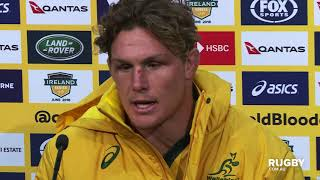 Mitsubishi Estate Ireland Series: Wallabies press conference, Melbourne