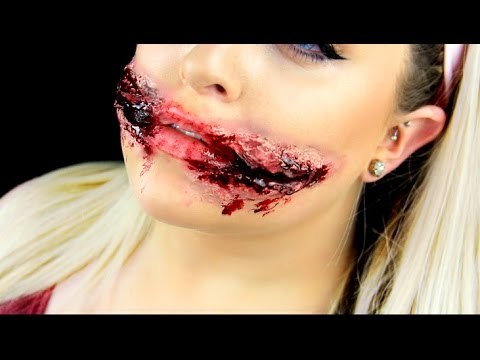 CHELSEA SMILE SFX MAKEUP TUTORIAL | Ripped Mouth Halloween ...