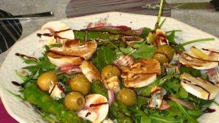 Салат из рукколы со спаржей