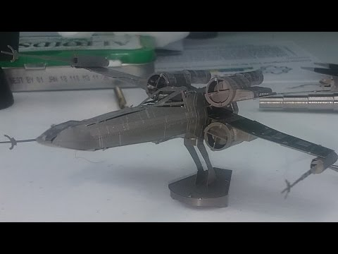 X-Wing revisited - 3D Metal Model Build - Star Wars