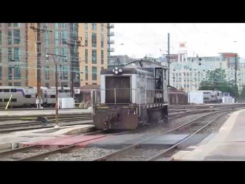 Amtrak Lite Engine Action at Washington Union Station