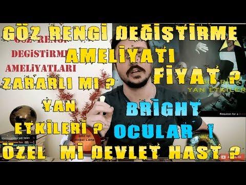 GÖZ RENGİ DEĞİŞTİRME AMELİYATI / ZARARLI MI / FİYAT / HANGİ HASTANE / DEVLET Mİ ÖZEL / Brightocular
