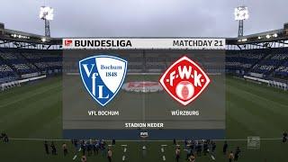 Fifa 21   vfl bochum vs wurzburg kickers - germany 2.bundesliga 27/02/2021 1080p 60fps