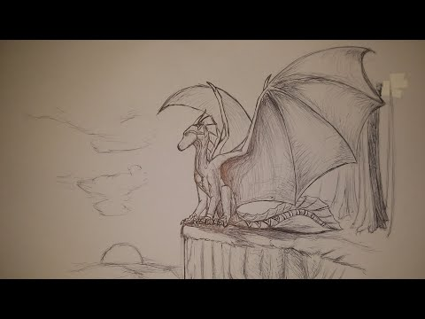 Drawing Western Dragon