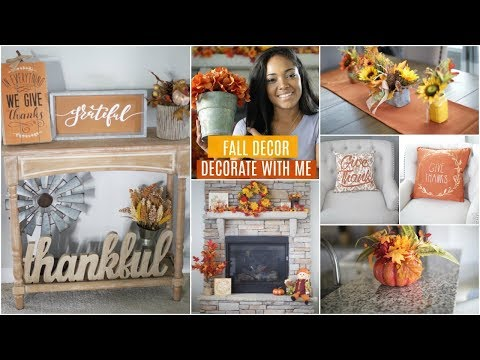 FALL DECOR DECORATE WITH ME