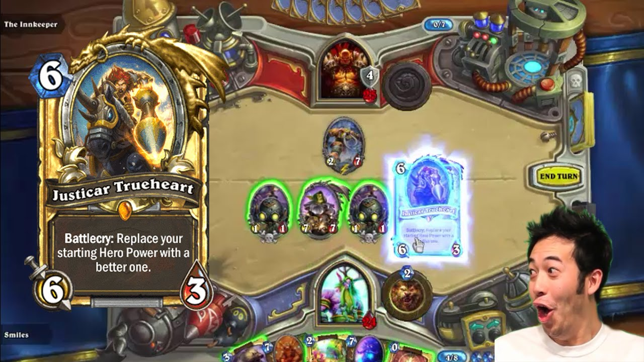 Hearthstone: Justicar Trueheart All Upgraded Hero Powers - YouTube