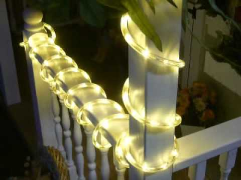 Pure white warm white chasing led rope light kit youtube mozeypictures Image collections