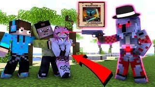 ANIMASI LUCU BOCIL JADI BURONAN MAFFIA PENJAHAT WANITA  MOVIE  - Minecraft Animation