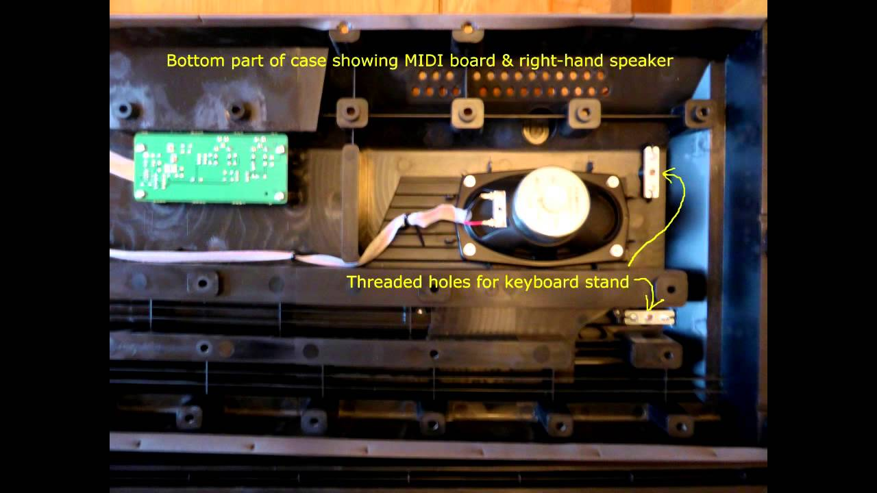 Yamaha p95 p85 piano partial disassembly youtube for Yamaha p85 contemporary digital piano