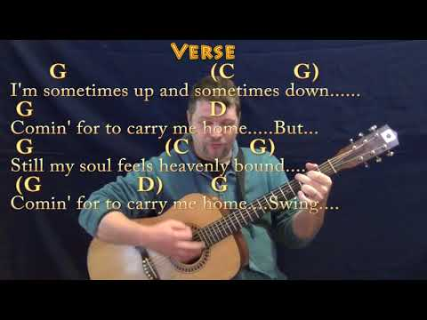 Swing Low, Sweet Chariot (Spiritual) Guitar Cover Lesson in G with Chords/Lyrics