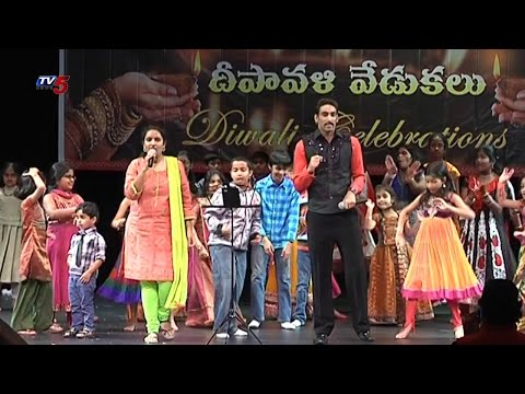 Telugu Fine Arts Society Diwali Celebrations With NRI's   New Jersey : TV5 News