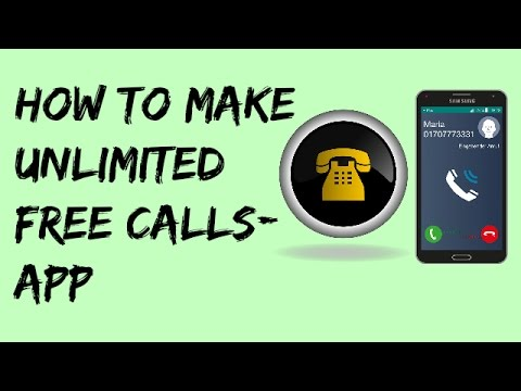 how to make unlimited free calls app