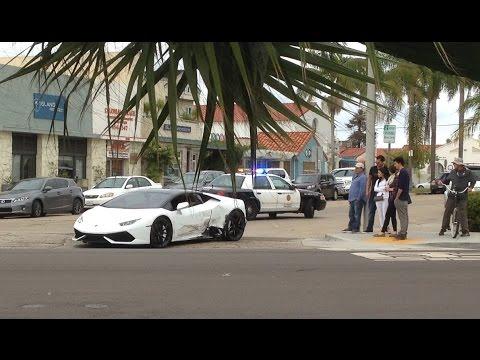 lamborghini accident la jolla - san diego - ca 11-20-2016 - youtube