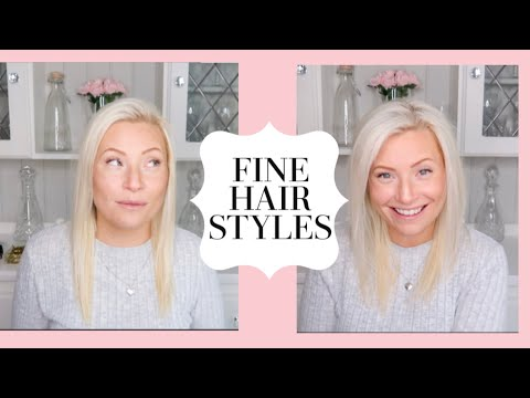 THIN HAIR HACKS   QUICK EASY HAIRSTYLE FOR THIN AND FINE HAIR   MESSY BUN STYLE HAIR TUTORIAL