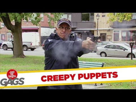 Police Officer Shoots Creepy Puppet Prank