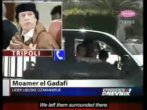 The last interview of Colonel Muammar Gaddafi  [February 27, 2011   eng subs]