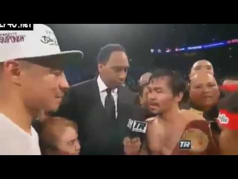 Post Fight Interview: Manny Pacquiao vs Jessie Vargas Exclusive !