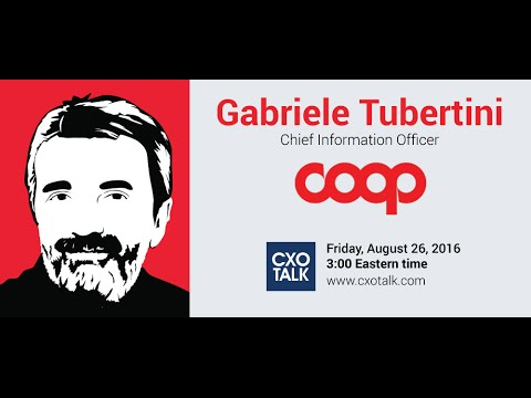 #190: Digital Transformation in Retail Grocery with Gabriele Tubertini, CIO, COOP Italia