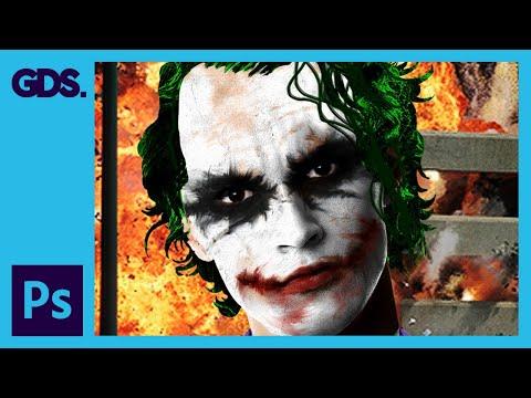 Joker Photoshop Tutorial: Smudge Tool, Warp Tool, Blending Modes & More