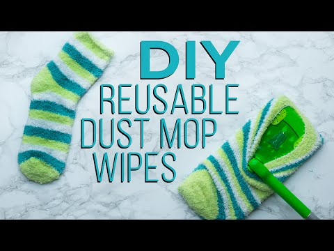 DIY Reusable Dust Mop Pads - YouTube