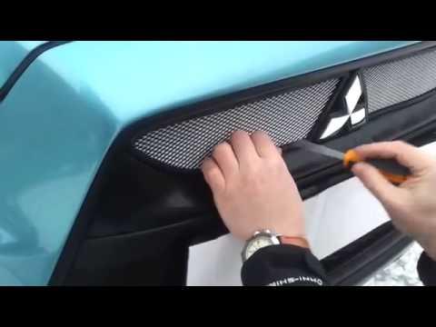 Защитная решетка радиатора Mitsubishi ASX инструкция по установке radiator guard tuning grill