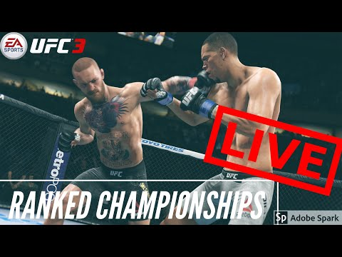 **LIVE** UFC 3 Online Ranked Championships // Road to 1K Subs