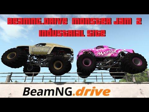BeamNG.Drive Monster Jam 2; Industrial Site