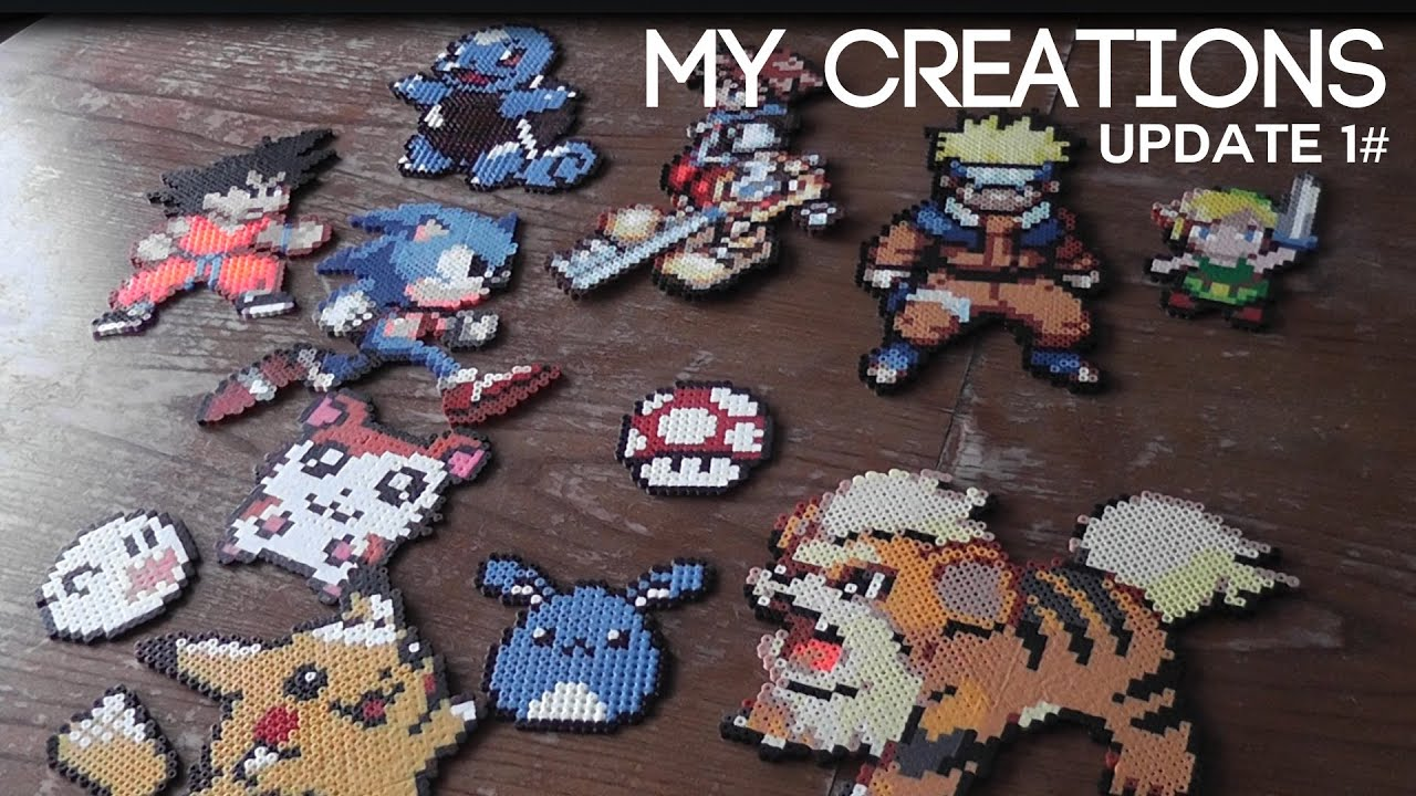 Perler Hama Pyssla Beads Creations Update 1 By Kurucrafts