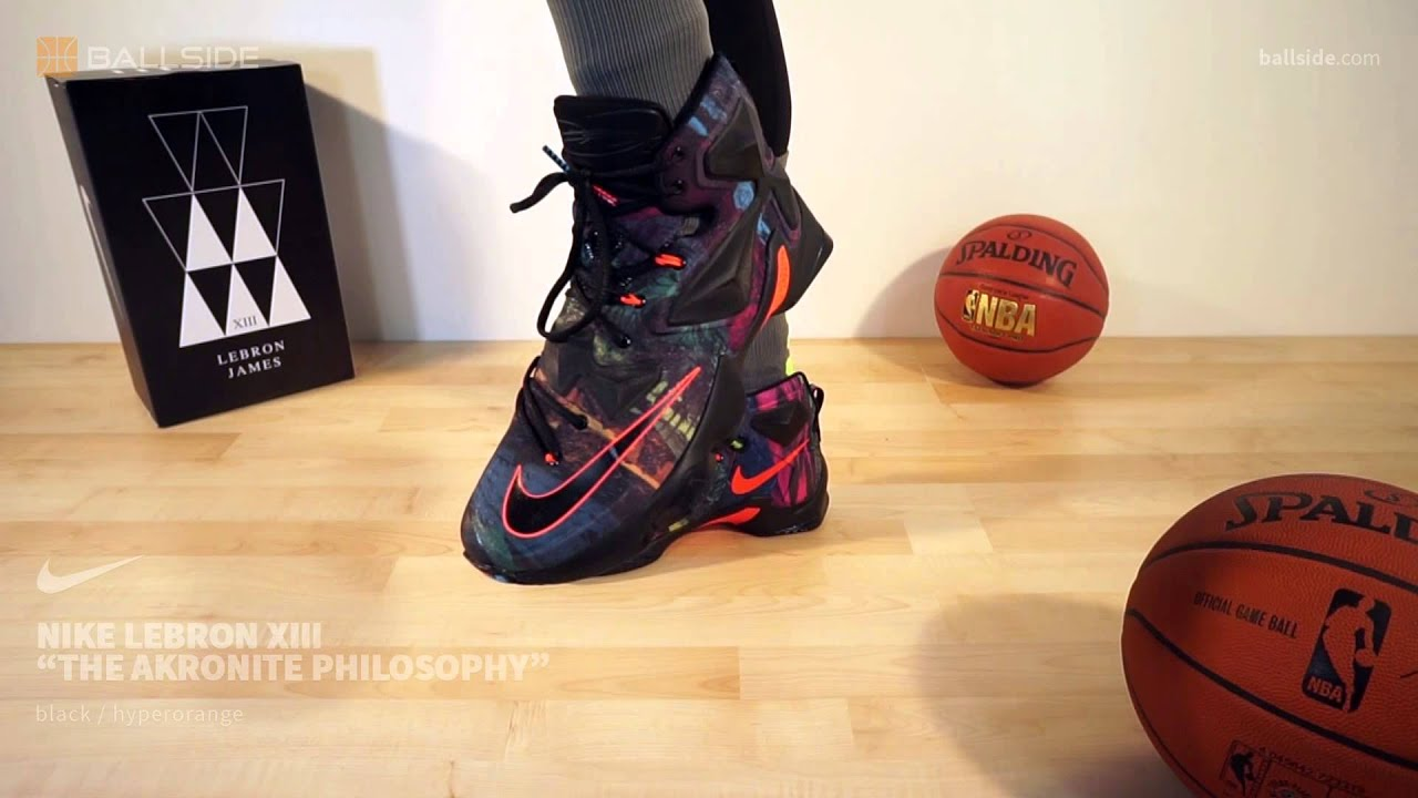 more photos f5390 073ae Nike LeBron XIII The Akronite Philosophy on feet
