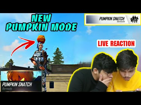 Free Fire    Playing New Pumpkin Mode In Advance Server    Live Reaction - Two-Side Gamers
