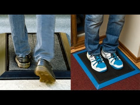 Shoe Sanitizer Mat Diminishes Cross Contamination Of Germs