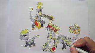 Let's Draw Pokemon: No. 782 Jangmo-o, No. 783 Hakamo-o, No. 784 Kommo-o