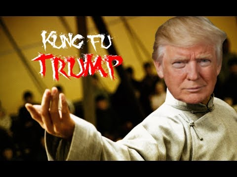 TRUMP VS CNN FAKE NEWS MEME WARS (Kung Fu Trump)