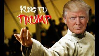 TRUMP VS CNN FAKE NEWS MEME WARS (Kung Fu Trump)