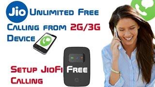 How to Make Jio Unlimited Free Call/SMS from 2G/3G Device   Setup JioFi [Hindi/Urdu]