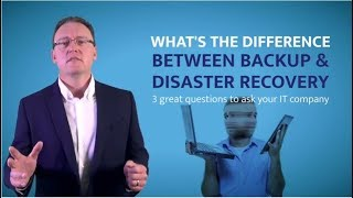 What is the difference between backups and disaster recovery | IT Support Hertfordshire