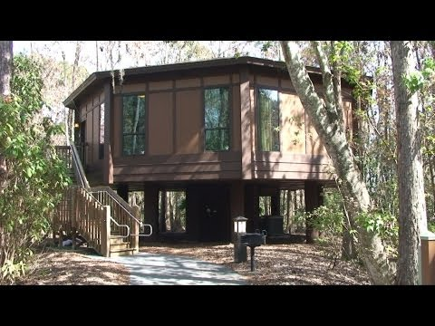 Treehouse Villas at Disney's Saratoga Springs Resort - Detailed Tour, Walt Disney World