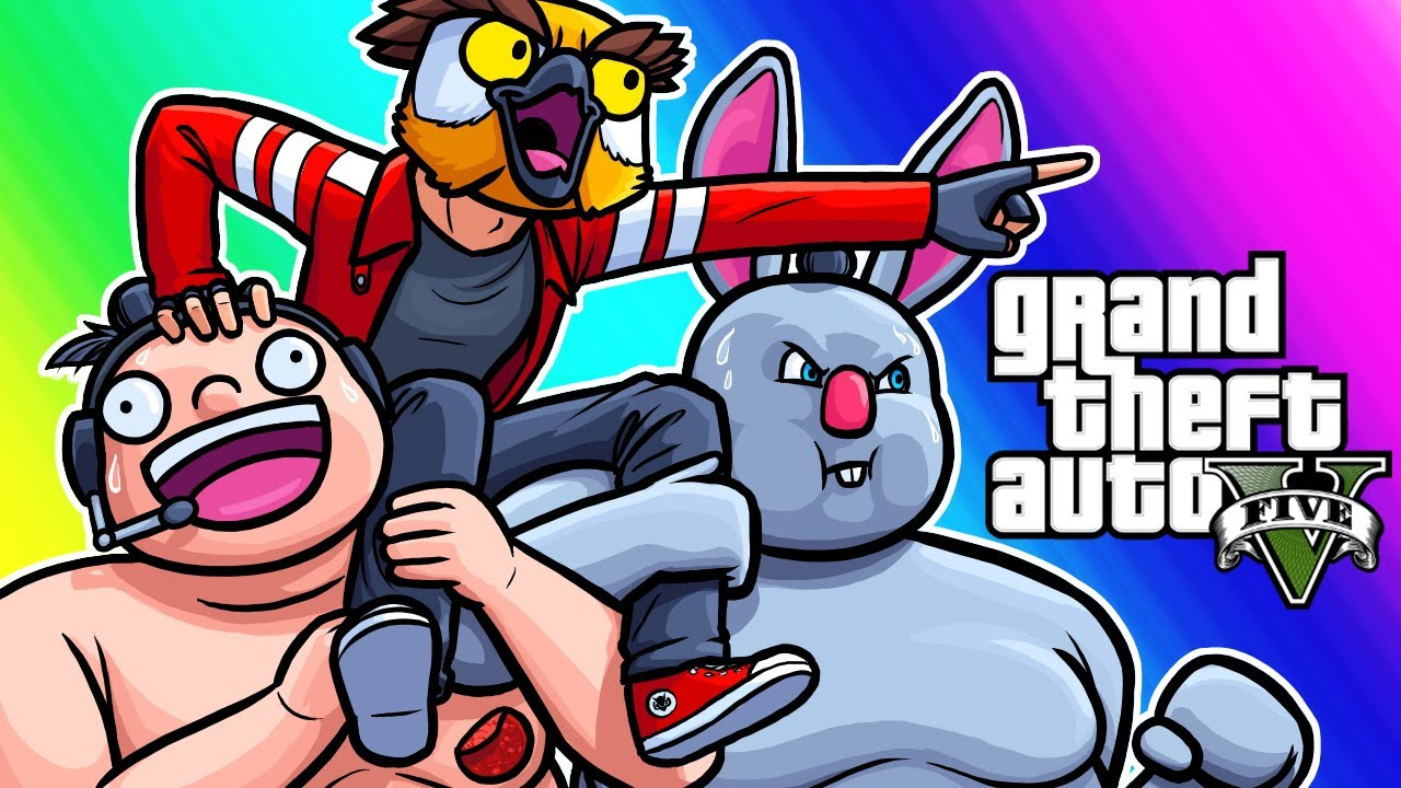 GTA5 Online Funny Moments - The Sweaty Sumo Carry!