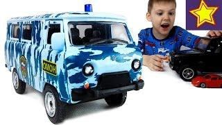 Машинки Autotime Полицейский УАЗ Буханка Полицейская операция! Kids Autotime cars