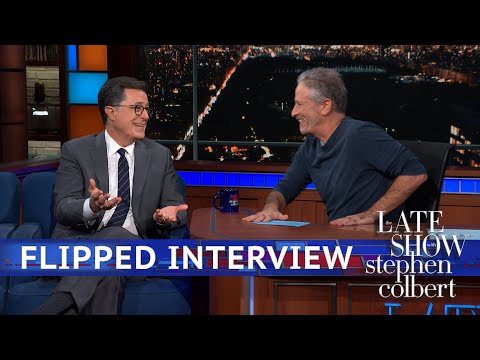 Jon Stewarts Flipped Interview With Stephen Colbert