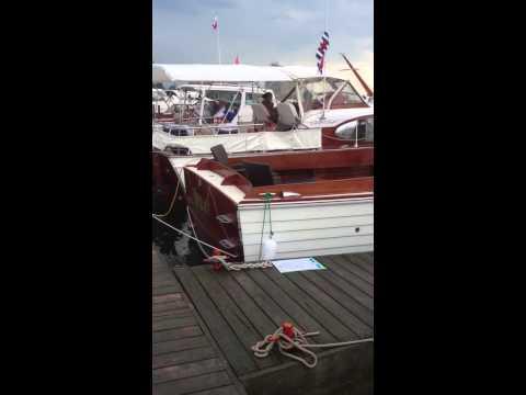 Summer patrol at the Antique Boat Show at the Sarnia Bay Marina