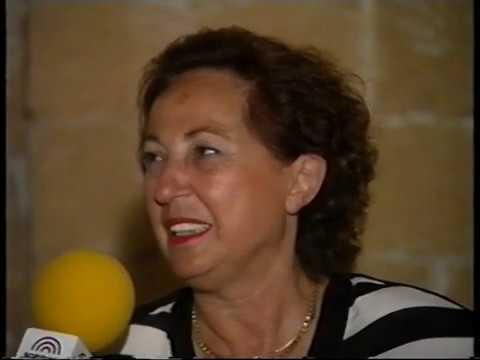 """1989/09 """"Baglio di Stefano Gibellina: Carla Accardi"""" di Peppe Occhipinti. TELE SCIROCCO Trapani"""