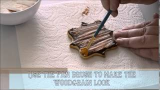 How to get a rustic wood plank look on a cookie