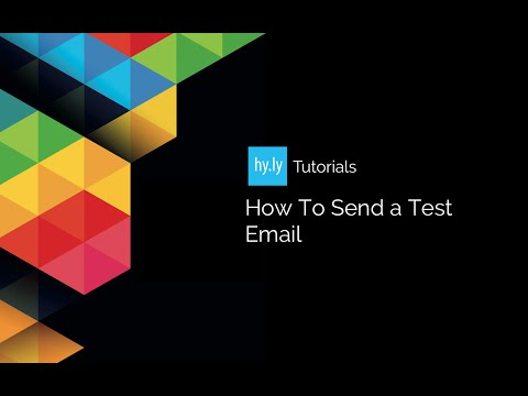 How To Send A Test Email