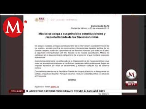 México no desconocerá gobierno de Nicolás Maduro