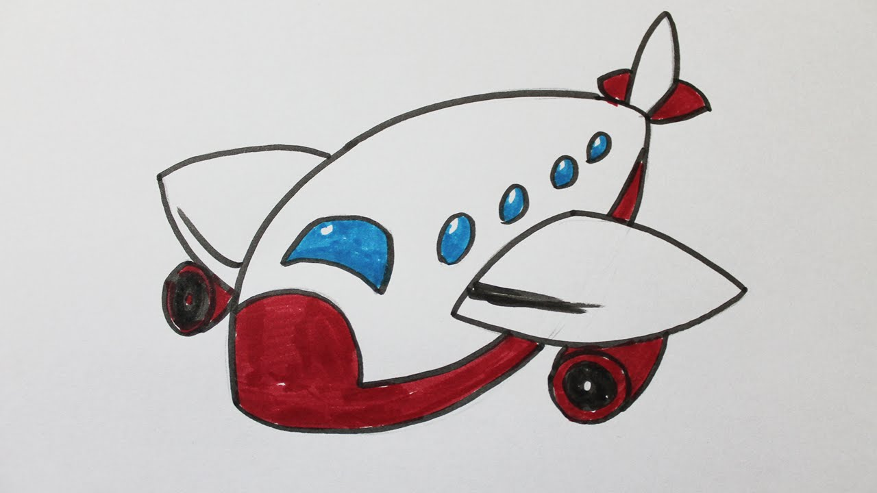 Comment dessiner un avion facilement youtube - Avion a dessiner ...